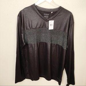 NWT Guess Long Sleeve Black Shirt Sz XL